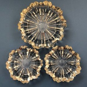 Set of 3 Vintage glass ashtrays